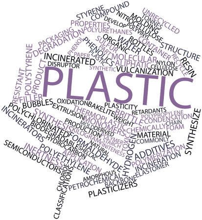 polystyrene: Abstract word cloud for Plastic with related tags and terms