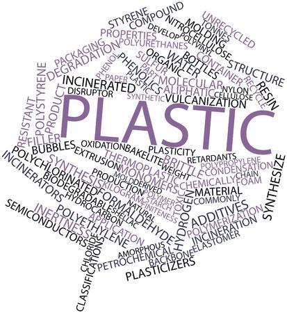 celulosa: Nube palabra abstracta para plástico con etiquetas y términos relacionados Foto de archivo
