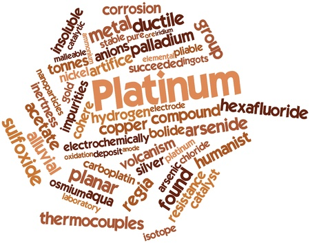 Abstract word cloud for Platinum with related tags and terms Stock Photo - 17427398