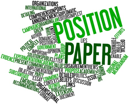 Abstract word cloud for Position paper with related tags and terms photo