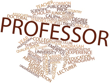 Abstract word cloud for Professor with related tags and terms