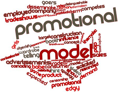 wording: Abstract word cloud for Promotional model with related tags and terms