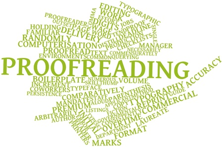 Abstract word cloud for Proofreading with related tags and terms