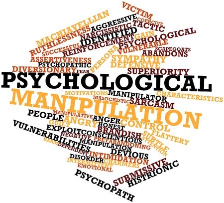 deceptive: Abstract woordwolk voor Psychologische manipulatie met gerelateerde tags en voorwaarden