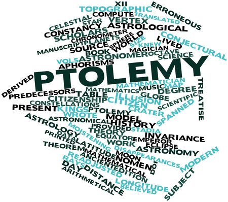 Abstract word cloud for Ptolemy with related tags and terms Stock Photo - 17427513
