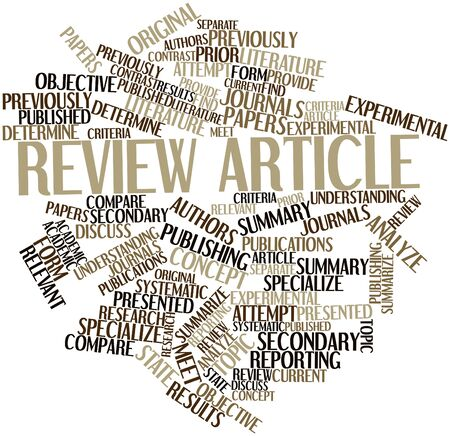 published: Abstract word cloud for Review article with related tags and terms