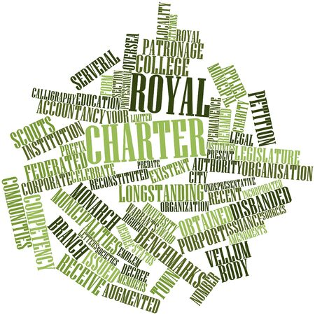 Abstract word cloud for Royal charter with related tags and terms
