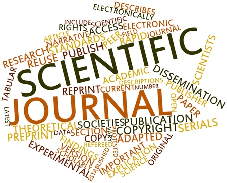 Abstract word cloud for Scientific journal with related tags and terms Stock Photo - 17427444