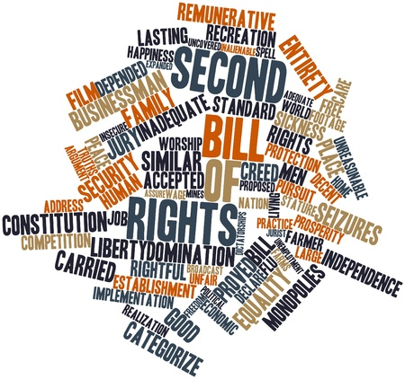 Abstract word cloud for Second Bill of Rights with related tags and terms photo