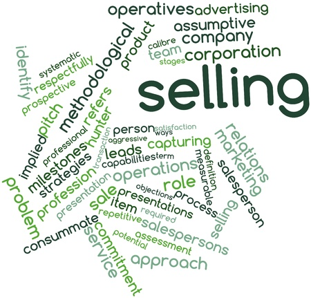 identifiable: Abstract word cloud for Selling with related tags and terms
