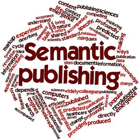 Abstract word cloud for Semantic publishing with related tags and terms Stock Photo - 17427651