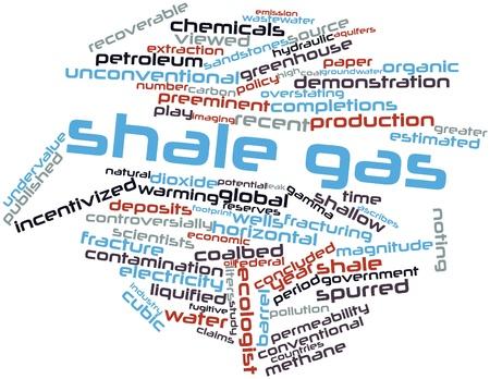 Abstraktes Wort-Wolke für Shale Gas verwandte Tags und Begriffe Lizenzfreie Bilder