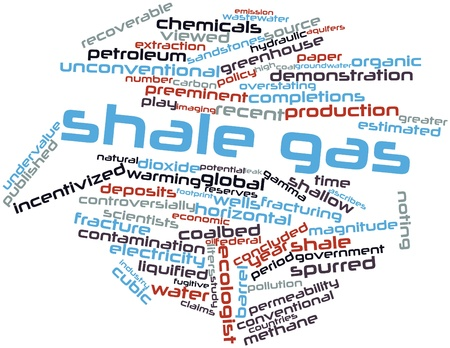Abstract word cloud for Shale gas with related tags and terms Archivio Fotografico