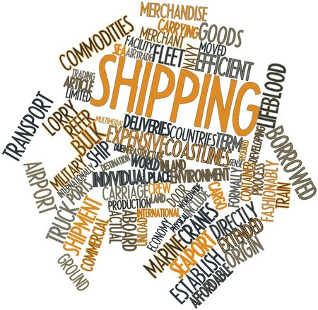 Abstract word cloud for Shipping with related tags and terms Stock Photo - 17427780