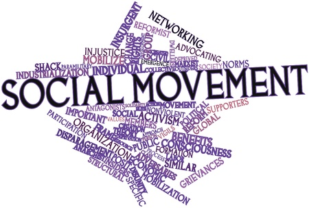 intersects: Abstract word cloud for Social movement with related tags and terms
