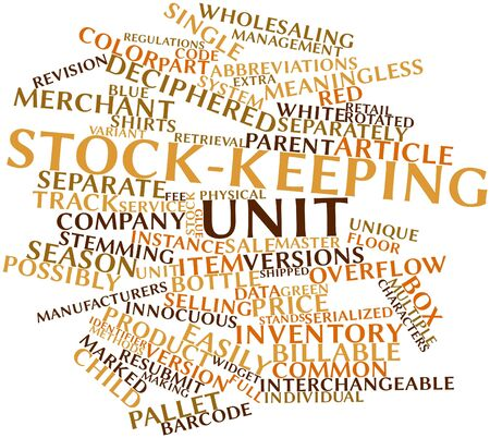 unit: Abstract word cloud for Stock-keeping unit with related tags and terms