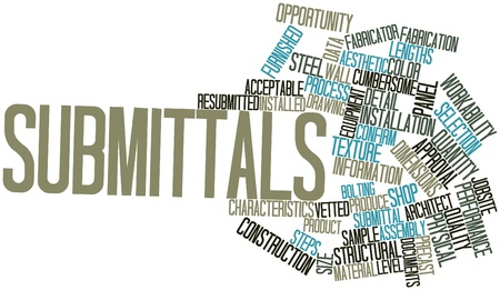 Abstract word cloud for Submittals with related tags and terms Stock Photo - 17427345