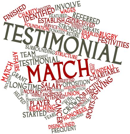 Abstract word cloud for Testimonial match with related tags and terms Stock Photo - 17427650