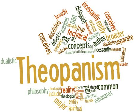 Abstract word cloud for Theopanism with related tags and terms Stock Photo - 17427380