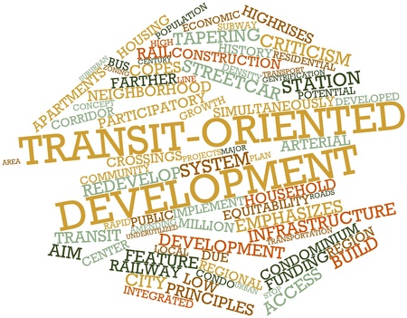 overcrowding: Abstract word cloud for Transit-oriented development with related tags and terms