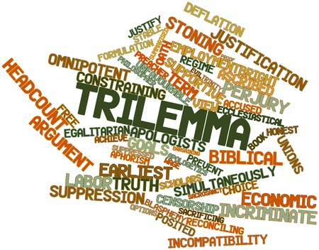 Abstract word cloud for Trilemma with related tags and terms