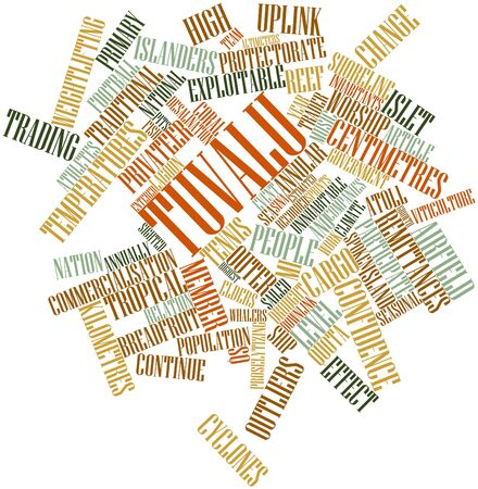 Abstract word cloud for Tuvalu with related tags and terms Stock Photo - 17427794