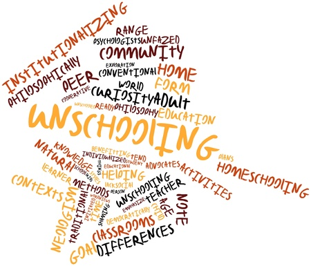 contexts: Abstract word cloud for Unschooling with related tags and terms