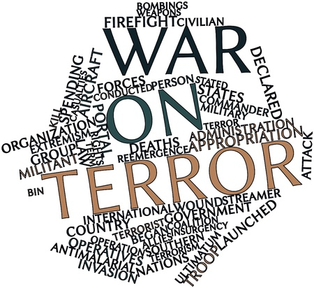 coalition: Abstract word cloud for War on Terror with related tags and terms