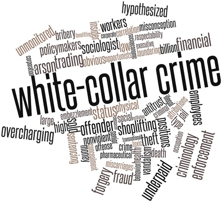 Abstract word cloud for White-collar crime with related tags and terms