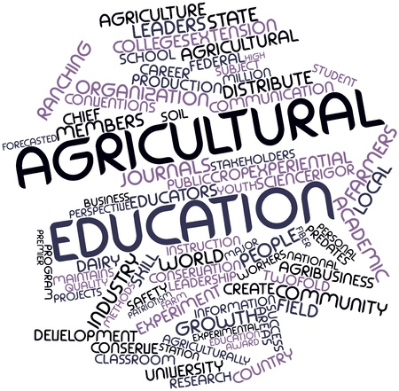 implicit: Abstract word cloud for Agricultural education with related tags and terms