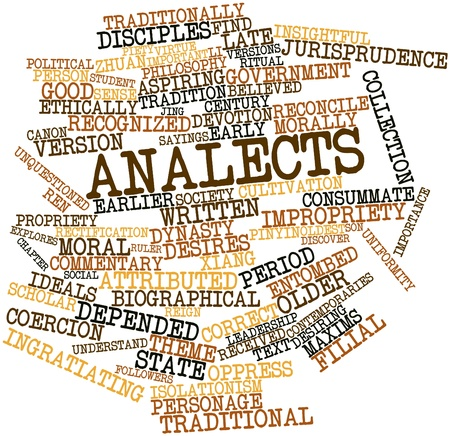 Abstract word cloud for Analects with related tags and terms Stock Photo - 17464095
