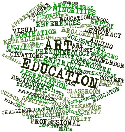 emulation: Abstract word cloud for Art education with related tags and terms Stock Photo