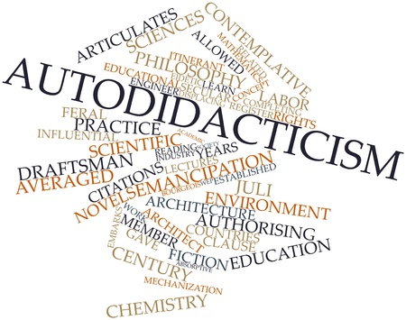 complied: Abstract word cloud for Autodidacticism with related tags and terms