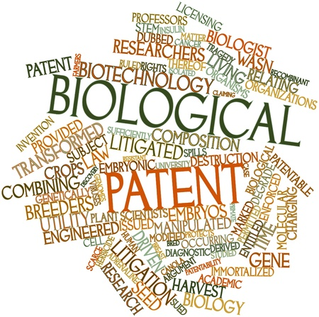 patent: Abstract word cloud for Biological patent with related tags and terms