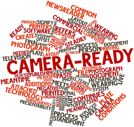 Abstract word cloud for Camera-ready with related tags and terms Stock Photo - 17464018