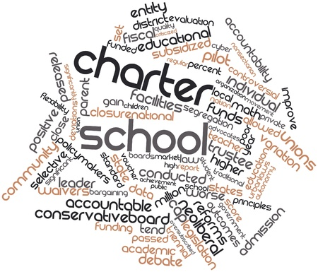 charter: Abstract word cloud for Charter school with related tags and terms