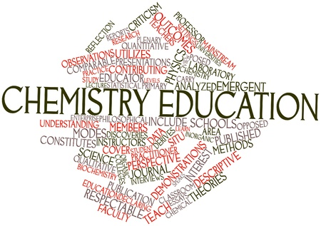 Abstract word cloud for Chemistry education with related tags and terms photo