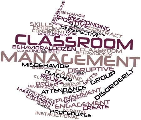 characterize: Nube palabra abstracta para la gesti�n de aula con las etiquetas y t�rminos relacionados