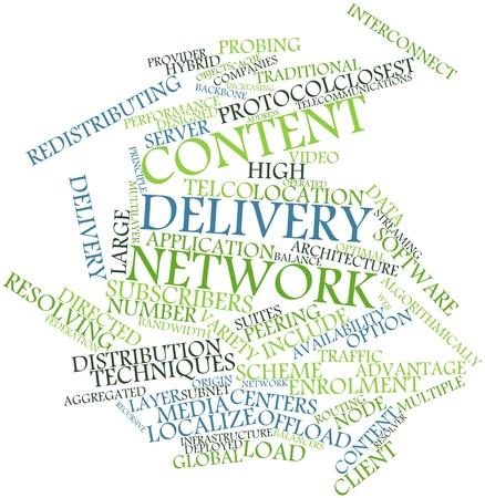 resolving: Word cloud astratto per Content Delivery Network con tag correlati e termini Archivio Fotografico