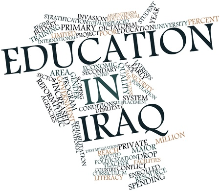 Abstract word cloud for Education in Iraq with related tags and terms