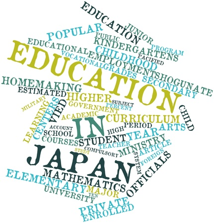 Abstract word cloud for Education in Japan with related tags and terms