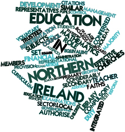 Abstract word cloud for Education in Northern Ireland with related tags and terms