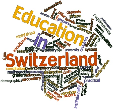 continuation: Abstract word cloud for Education in Switzerland with related tags and terms