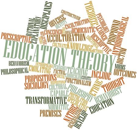 identidad cultural: Nube de la palabra abstracta de la teoría de la educación con las etiquetas y términos relacionados Foto de archivo