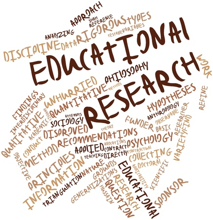 educational research: Abstract word cloud for Educational research with related tags and terms