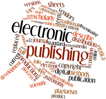 Abstract word cloud for Electronic publishing with related tags and terms