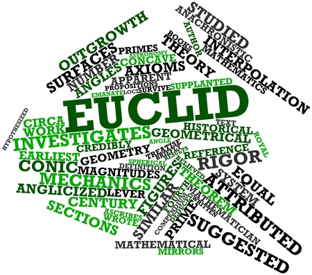 Abstract word cloud for Euclid with related tags and terms
