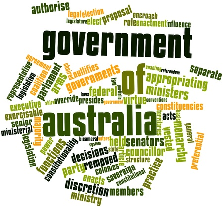 coalition: Abstract word cloud for Government of Australia with related tags and terms