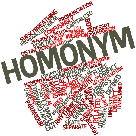 peruse: Abstract word cloud for Homonym with related tags and terms
