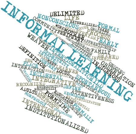 Abstract word cloud for Informal learning with related tags and terms Stock Photo - 17464093